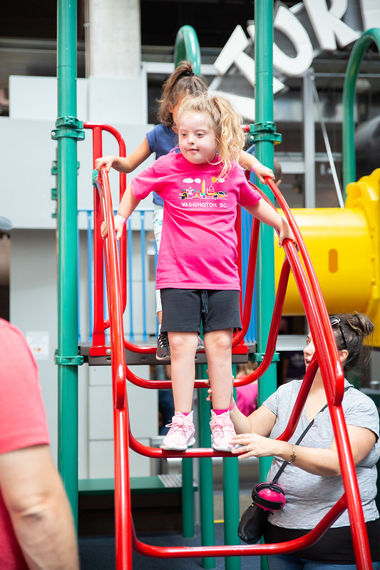 Girl on Indoor Playground in Tot Lot