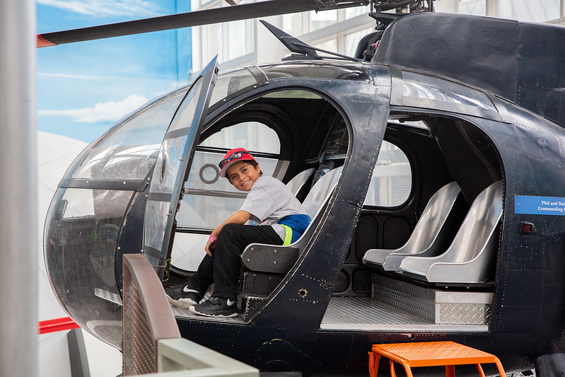 Boy in Helicopter